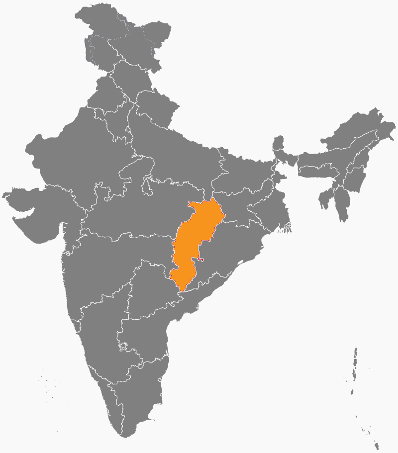 India Map - Chhattisgarh