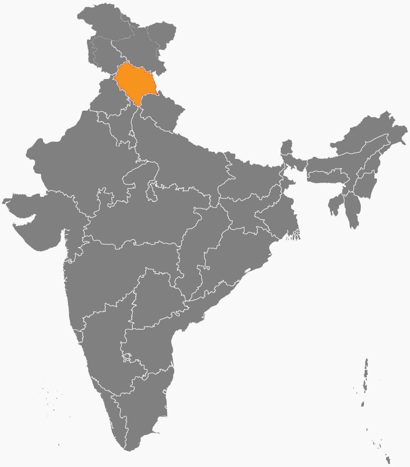 India Map - HimachalPradesh