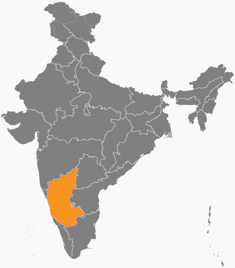 India Map - Karnataka