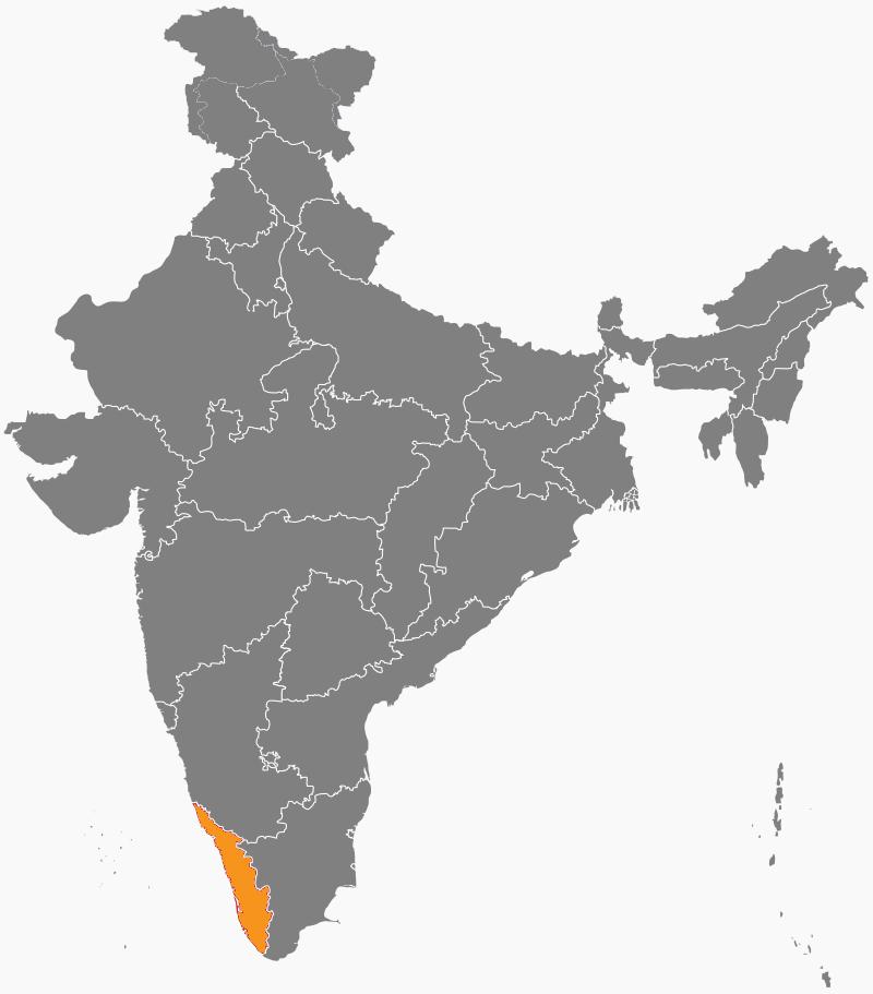 India Map - Kerala