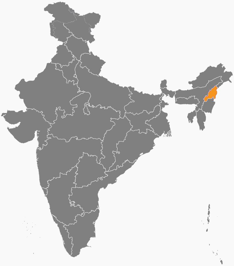 India Map - Nagaland