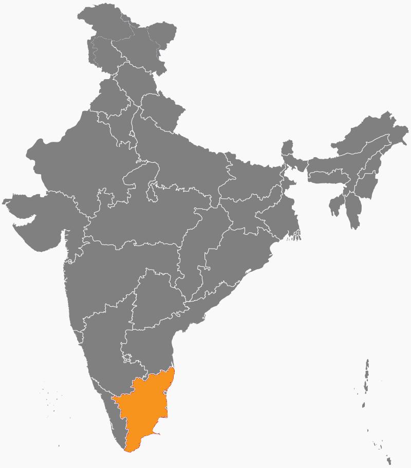 India Map - Tamil Nadu